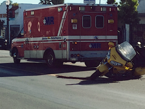Burlingame, CA - Rollover Accident on Hwy 101