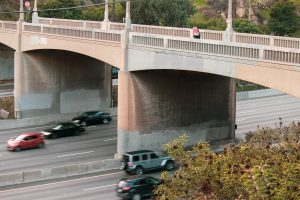 Fresno, CA - Car Falls Off Overpass on Jensen Ave